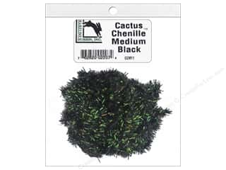 craft & hobbies: Hareline Dubbin Cactus Chenille Medium Black