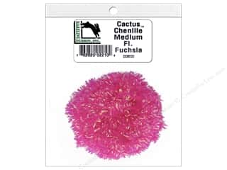 craft & hobbies: Hareline Dubbin Cactus Chenille Medium Fluorescent Fuchsia