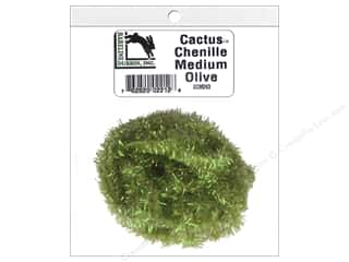 craft & hobbies: Hareline Dubbin Cactus Chenille Medium Olive