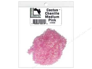 craft & hobbies: Hareline Dubbin Cactus Chenille Medium Pink
