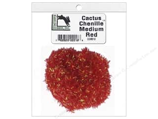 Hareline Dubbin Cactus Chenille Medium Red
