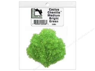 yarn: Hareline Dubbin Cactus Chenille Medium Bright Green