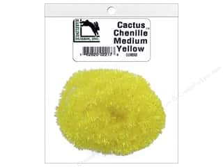 craft & hobbies: Hareline Dubbin Cactus Chenille Medium Yellow