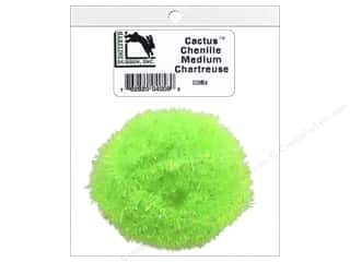 craft & hobbies: Hareline Dubbin Cactus Chenille Medium Chartreuse
