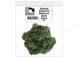 craft & hobbies: Hareline Dubbin Cactus Chenille Medium Dark Olive