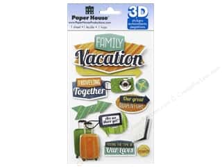 stickers: Paper House Sticker 3D Family Vacation