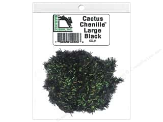 craft & hobbies: Hareline Dubbin Cactus Chenille Large Black