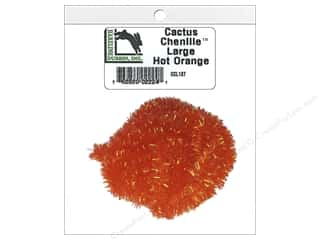 yarn: Hareline Dubbin Cactus Chenille Large Hot Orange