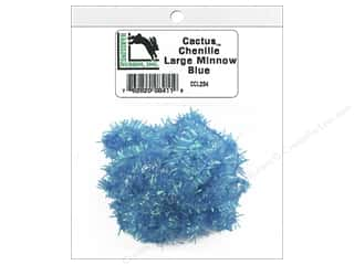 craft & hobbies: Hareline Dubbin Cactus Chenille Large Minnow Blue