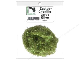 craft & hobbies: Hareline Dubbin Cactus Chenille Large Olive