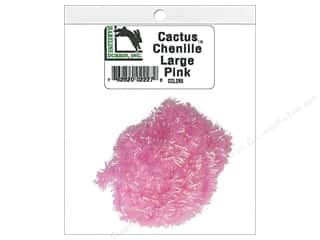 craft & hobbies: Hareline Dubbin Cactus Chenille Large Pink