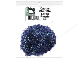 craft & hobbies: Hareline Dubbin Cactus Chenille Large Purple