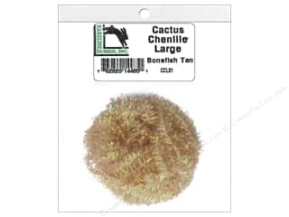 craft & hobbies: Hareline Dubbin Cactus Chenille Large Bonefish Tan