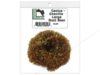 craft & hobbies: Hareline Dubbin Cactus Chenille Large Root Beer