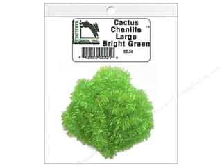 craft & hobbies: Hareline Dubbin Cactus Chenille Large Bright Green