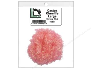 craft & hobbies: Hareline Dubbin Cactus Chenille Large Shrimp Pink