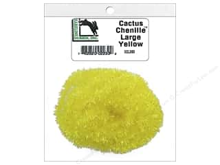 craft & hobbies: Hareline Dubbin Cactus Chenille Large Yellow