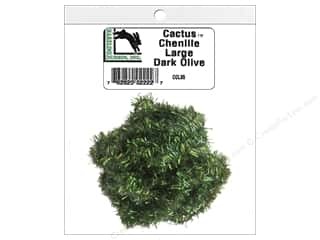 craft & hobbies: Hareline Dubbin Cactus Chenille Large Dark Olive