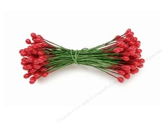 craft & hobbies: Darice Holly Berries Stamens 1/4 in. Red 144 pc.