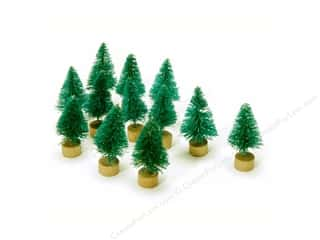 craft & hobbies: Darice Sisal Tree 1 in. Green Christmas 12 pc.