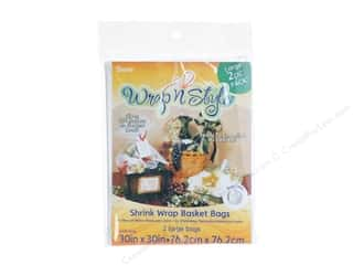 gifts & giftwrap: Darice Basket Shrink Bag 30 x 30 in. Clear 2 pc.