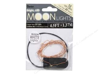Darice Light Moon LED Copper Wire 12 Warm White