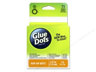 Glue Dots: Glue Dots Roll Pop Up 1/2 in. 75 pc.