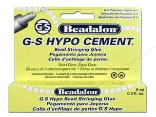 beading & jewelry making supplies: Beadalon G-S Hypo Cement Bead Stringing Glue 1/3 oz.