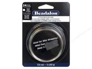 craft & hobbies: Beadalon 1/10 Silver Filled Wire 24 ga Round Half Hard 0.5 oz.
