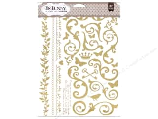 scrapbooking & paper crafts: Bo Bunny Rub-Ons Foil Filagree Gold
