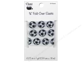 Sports Elastic: Dritz Fold-Over Elastic 5/8 in. x 1 yd. Sports Soccer