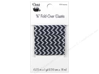 Fold-Over Elastic by Dritz 5/8 in. x 1 yd. Chevron Licorice