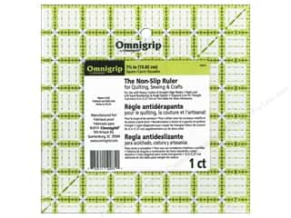ruler: Omnigrid Omnigrip Non-slip Ruler 7 1/2 x 7 1/2 in.