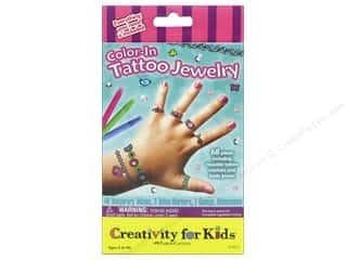 Weekly Specials Halloween Stickers: FaberCastell Creativity For Kids Color In Tattoo Jewelry