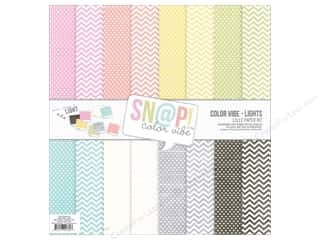Clearance Coredinations Cardstock Packs: Simple Stories Collection Snap Color Vibe Paper Pack Lights