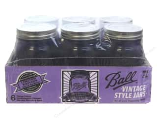 Glass Jars / Plastic Jars: Ball Mason Jars 16 oz. Pint Regular Mouth Heritage Collection Vintage Purple