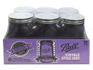 Ball Mason Jars 32 oz. Quart Wide Mouth Heritage Collection Vintage Purple