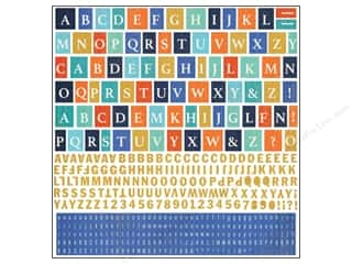 scrapbooking & paper crafts: BasicGrey Alphabet Stickers Adrift (12 sheets)