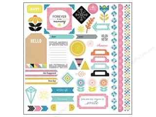 sentiment stickers: BasicGrey Element Stickers Prism (12 sets)