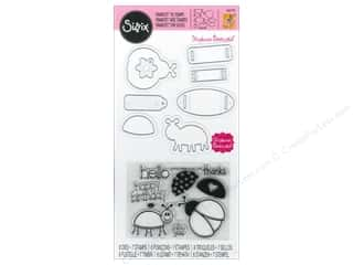 Sizzix Framelits Die Set 8PK with Stamps Bugs by Stephanie Barnard