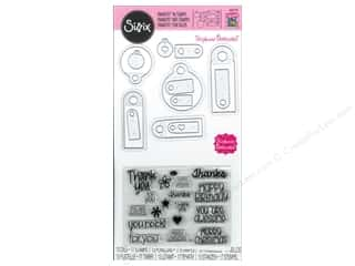 Sizzix Framelits Die Set 13PK with Stamps Tags & Words by Stephanie Barnard