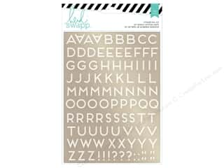 Heidi Swapp Wanderlust Sticker Foil Kit Alphabet Gold