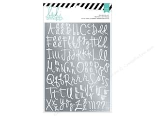 alphabet: Heidi Swapp Wanderlust Rub On Foil Kit Alphabet Silver