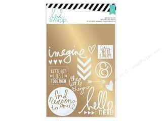 Heidi Swapp Wanderlust Rub On Foil Kit Sentiment Gold
