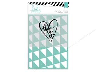 craft & hobbies: Heidi Swapp Wanderlust Stamp & Stencil Set This Is It
