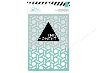craft & hobbies: Heidi Swapp Wanderlust Stamp & Stencil Set This Moment