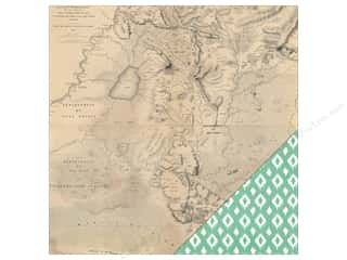 Heidi Swapp Paper 12 x 12 in. Wanderlust Treasure Map