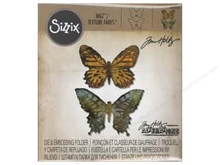 Sizzix Bigz Die with Texture Fades Butterfly Duo byTim Holtz