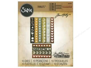 Sizzix Thinlits Die Set 10PK Shape Strips by Tim Holtz