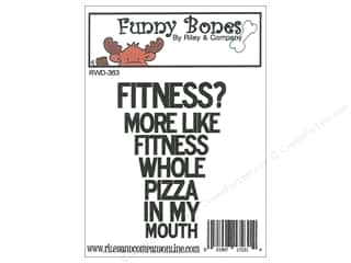 stamps: Riley & Company Cling Stamps Funny Bones Fitness